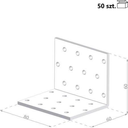 Kątownik KM5 60x60x80 x 2,0 mm (50 szt.)