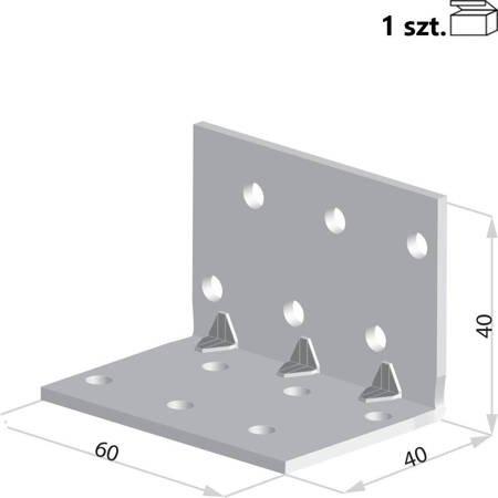 Kątownik KMP2 40x40x60 x 1,5 mm (1 szt.)