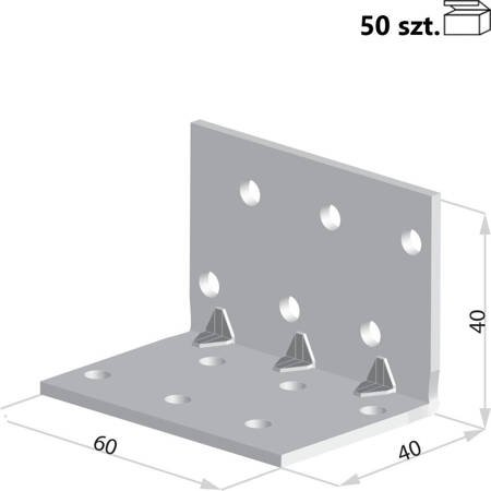 Kątownik KMP2 40x40x60 x 1,5 mm (50 szt.)