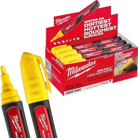 Marker olejowy żółty INKZALL Milwaukee (12 szt.)