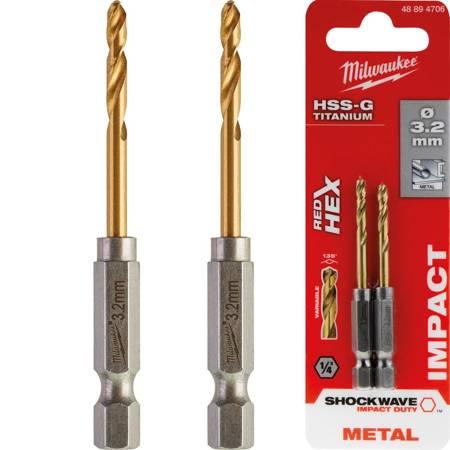 Wiertła do metalu SWave HSS-G Tin 3.2mm (2szt.)